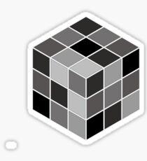 Monochrome Rubik's cube Sticker