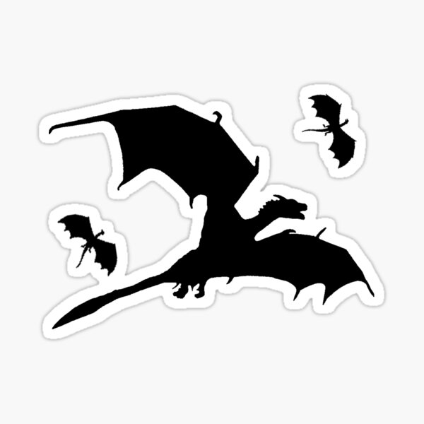 DROGON DRAGONS FLYING Sticker