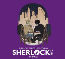 Sherlock NYC - SCREENING - Night (White Logo)