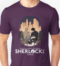 Sherlock NYC - SCREENING - Night (White Logo) Unisex T-Shirt