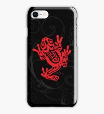Northwest Coast Frog - Black iPhone Case/Skin