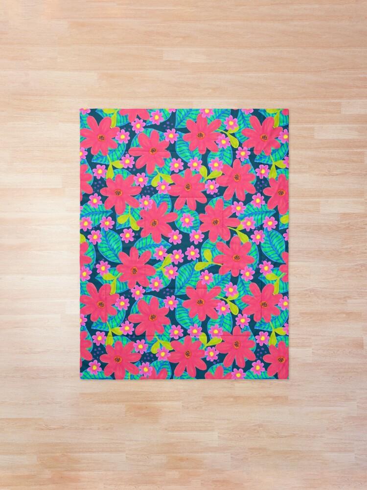 Alternative Ansicht von Blumen Mix Muster Tagesdecke