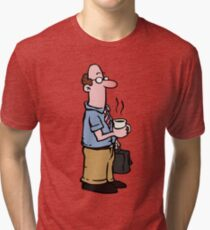 Boss with cup of coffee Tri-blend T-Shirt