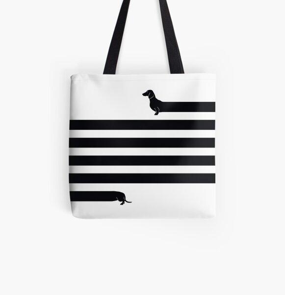 (Very) Long Dog All Over Print Tote Bag