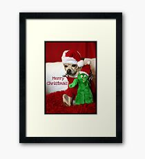Holiday Greetings from Lacy & Gumby Framed Print