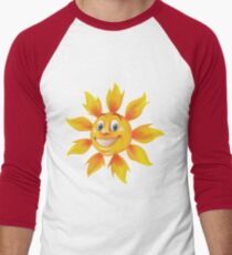 Cute smiling sun Men's Baseball ¾ T-Shirt