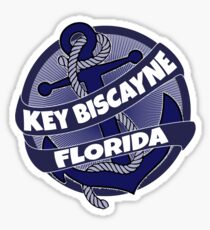 Key Biscayne Florida anchor swirl Sticker