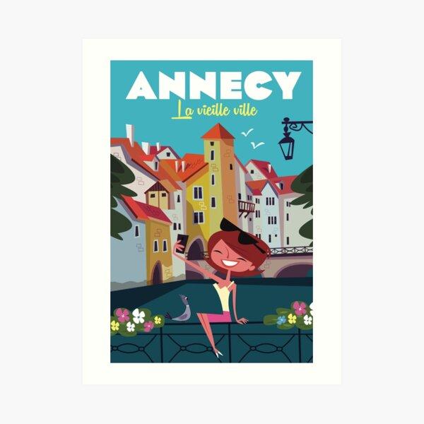 Affiche d'Annecy Impression artistique