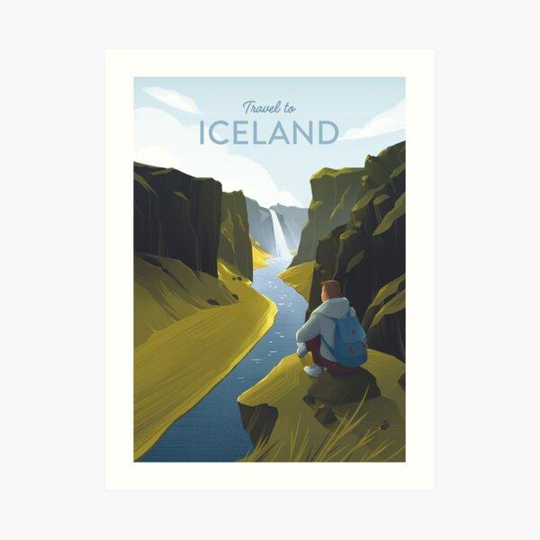 Travel to Iceland Art Print