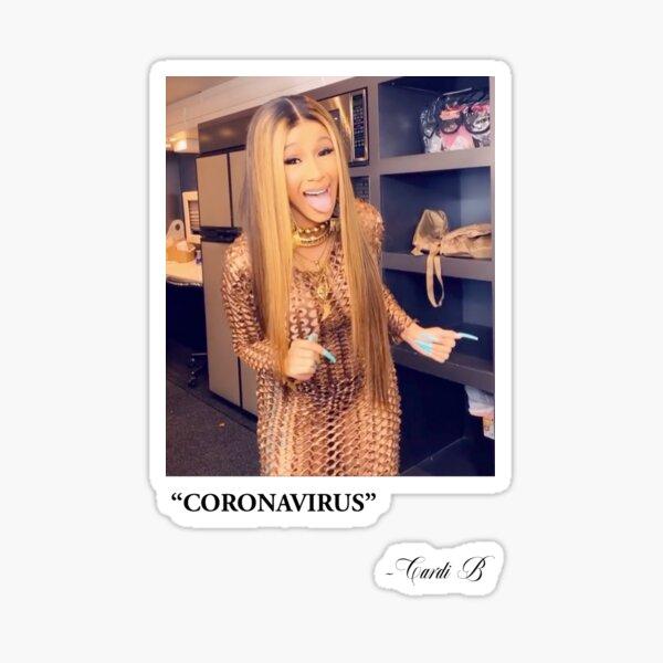 Coronavirus - Cardi B Sticker