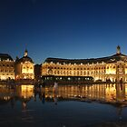 Bordeaux water pavement at night by graceloves