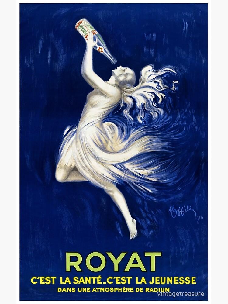 Royat France Vintage Advertising Poster Restored 1923 by vintagetreasure