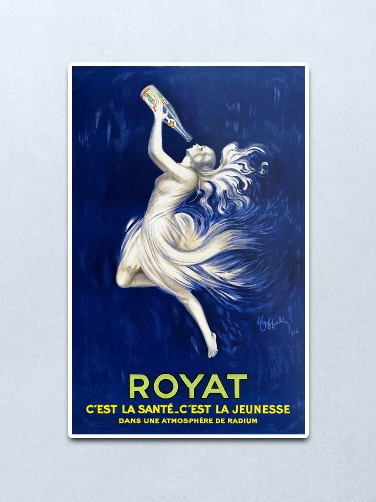 Alternate view of Royat France Vintage Advertising Poster Restored 1923 Metal Print