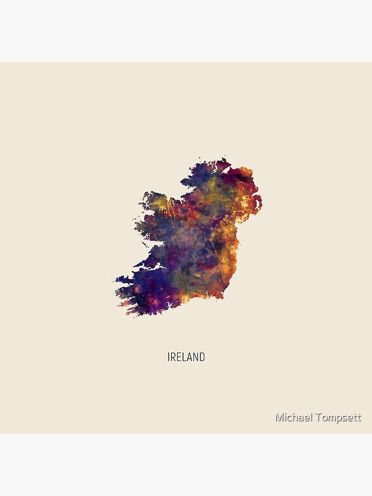 Ireland Watercolor Map by ArtPrints