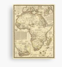 Vintage Map of Africa (1828) Canvas Print