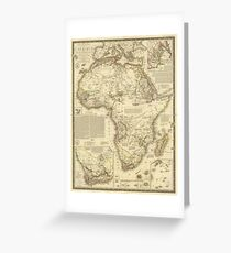 Vintage Map of Africa (1828) Greeting Card