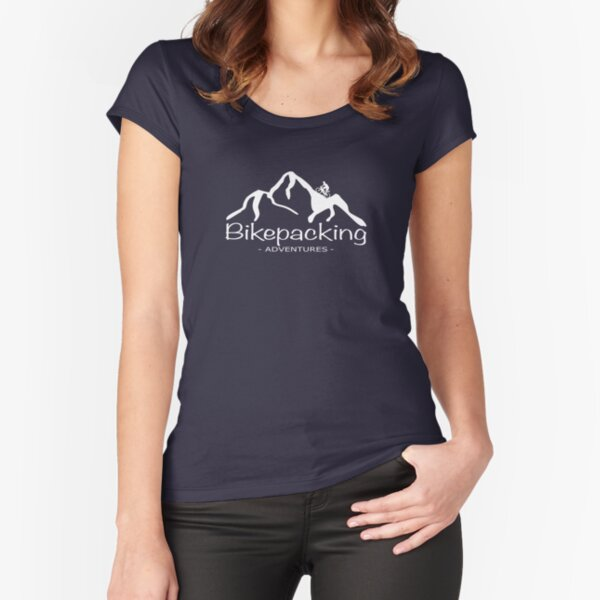 Bikepacking Adventures Logo white Fitted Scoop T-Shirt
