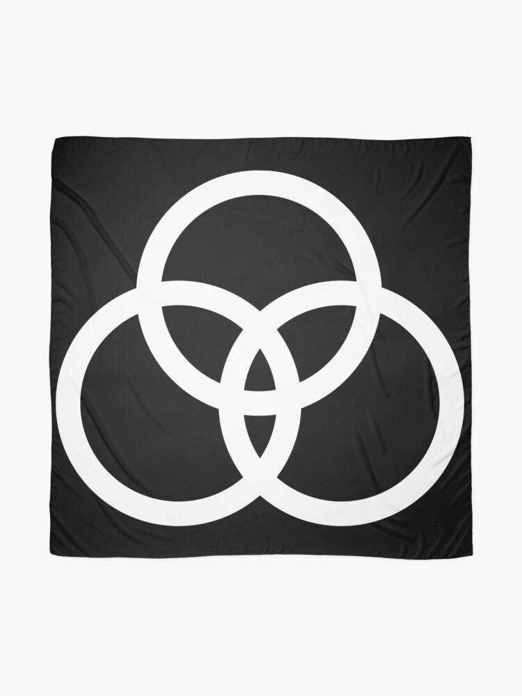 John Bonham circle grafic IN WHITE