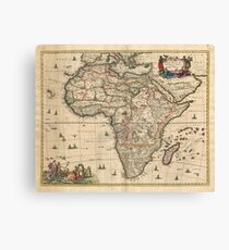 Vintage Map of Africa (1689) Canvas Print