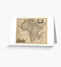 Vintage Map of Africa (1689) Greeting Card