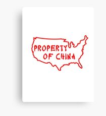 Property of China Canvas Print