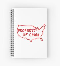 Property of China Spiral Notebook