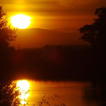Sunset - Clutha River - Sterling - South Island - New Zealand by slim6y