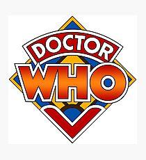 Classic Doctor Who Diamond Logo. Photographic Print