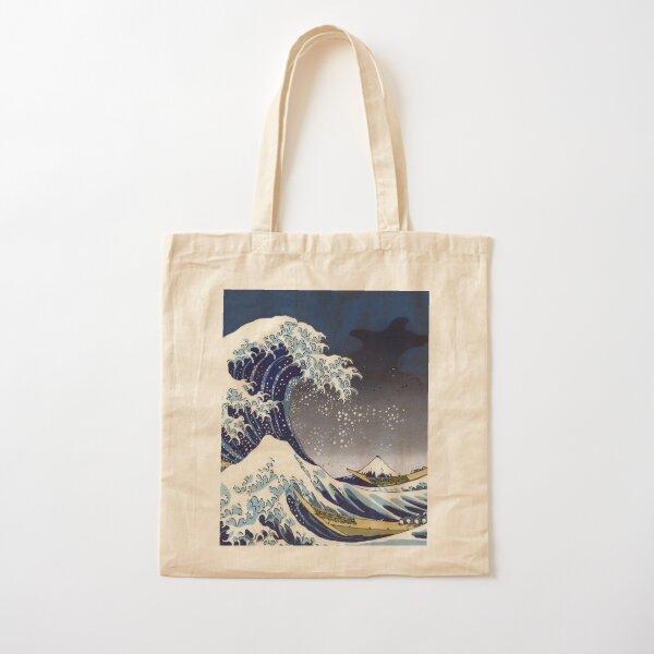 Great Wave: Kanagawa Night Cotton Tote Bag