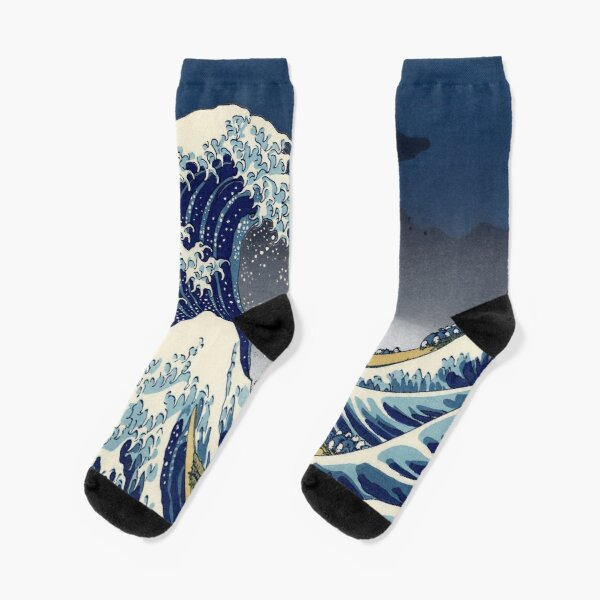 Great Wave: Kanagawa Night Socks