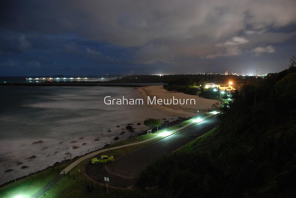Duranbah Beach at Night by Graham Mewburn