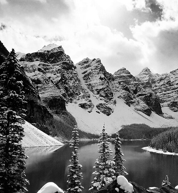 Moraine Lake (Black & White) by Chad Kruger