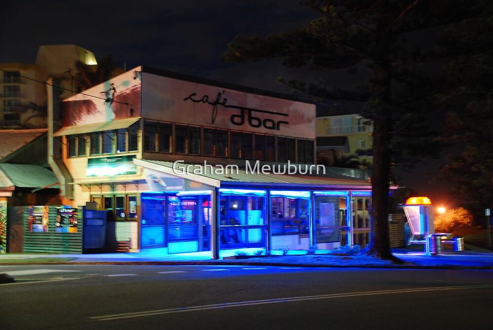 Cafe D Bar at Night by Graham Mewburn