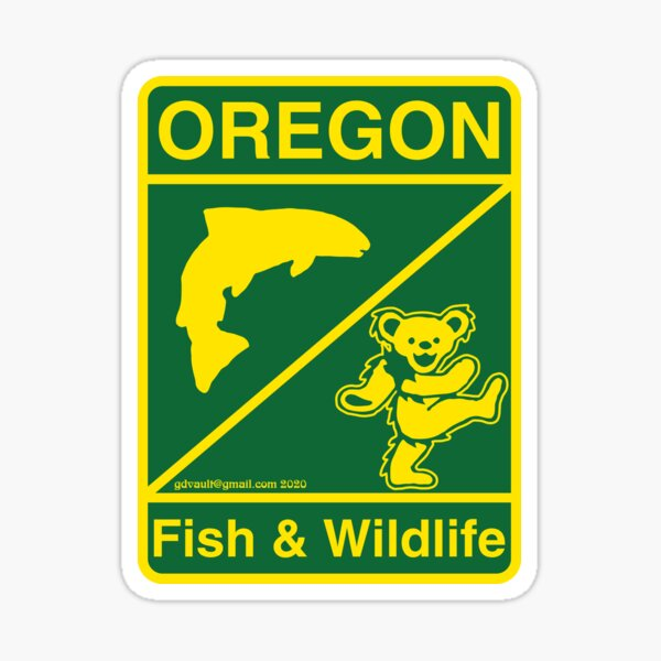 Oregon Fish & Wildlife Deadheads Unite! Sticker