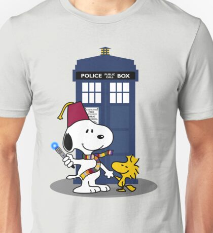 Snoopy Doctor Who with Woodstock and Tardis T-shirt