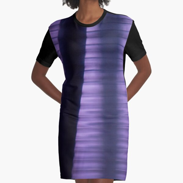 Shades of Purple Graphic T-Shirt Dress