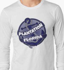 Plantation Florida anchor swirl Long Sleeve T-Shirt