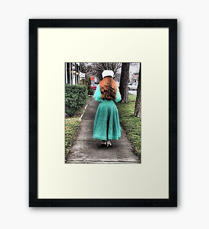 The Lady in Green Framed Print