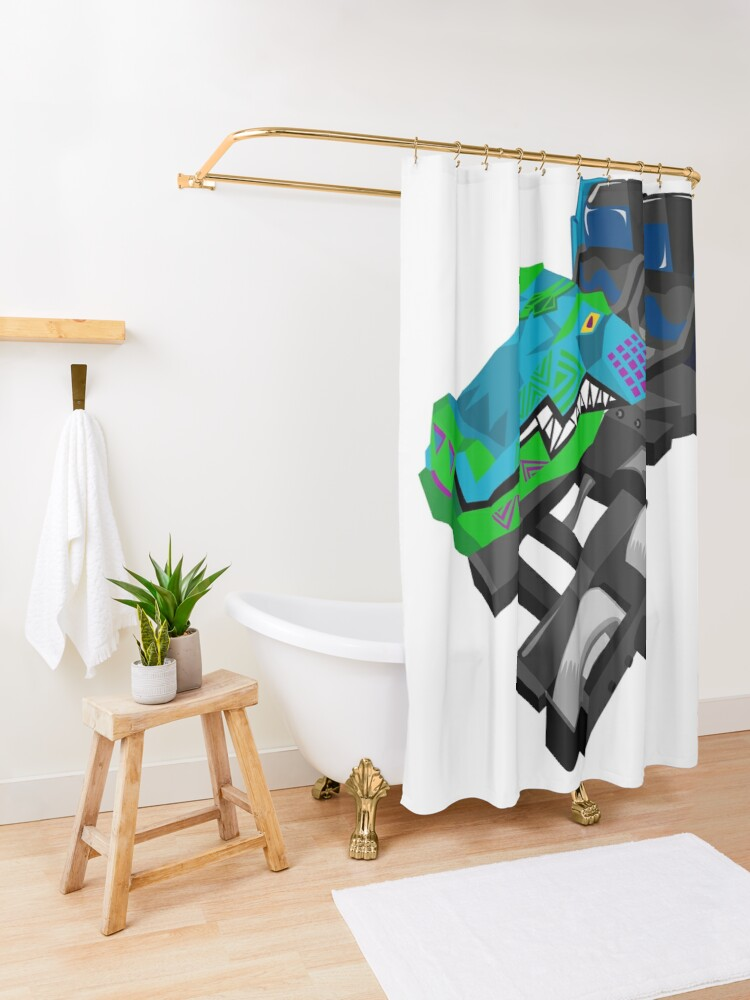 Alternate view of Iron Gwazi Front Car Shower Curtain
