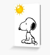 Happy snoopy Greeting Card