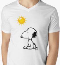 Happy snoopy Men's V-Neck T-Shirt