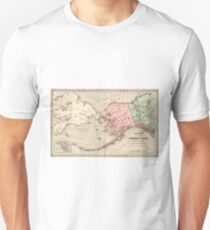 Vintage Map of Alaska and Russia (1869) T-Shirt