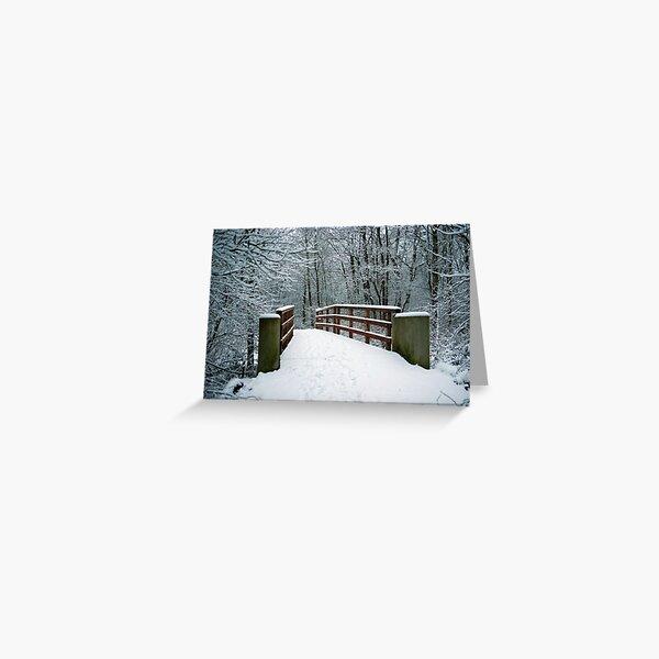 Bridge between white worlds Greeting Card