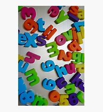 letters Photographic Print
