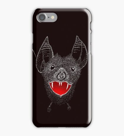 Flying Vampire Bat likes you a lot iPhone Case/Skin