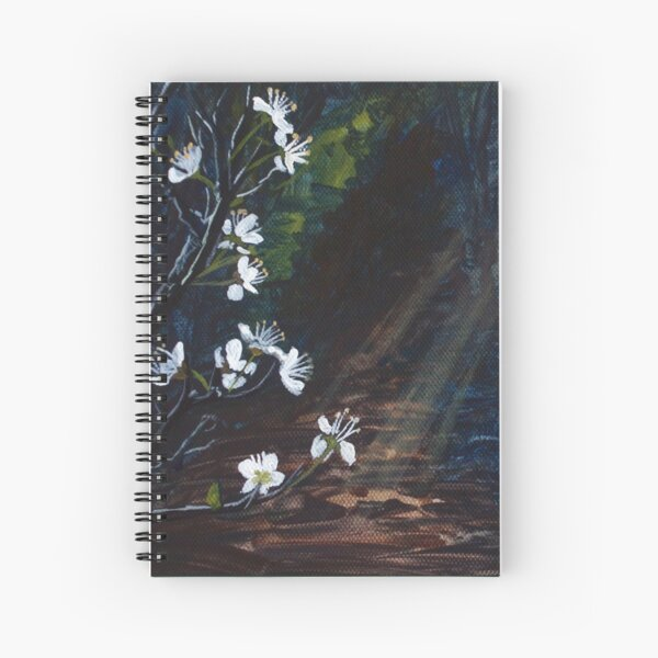 Stars in Shadow Shimmering: Blackthorn Spiral Notebook