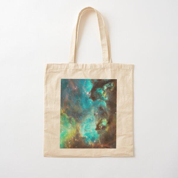 Green Galaxy Cotton Tote Bag