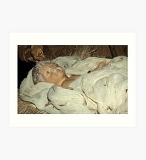 Wrapped in swaddling clothes Art Print