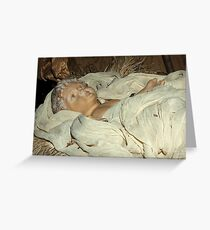 Wrapped in swaddling clothes Greeting Card