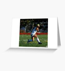 100511-085- 0 p & ink-field hockey Greeting Card